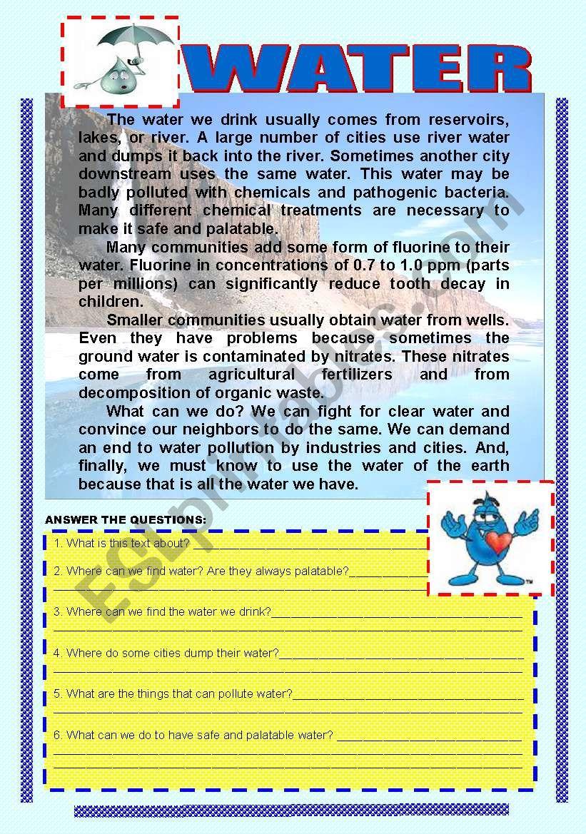 WATER CONSERVATION worksheet