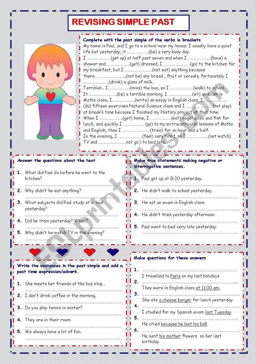 Revising Past Simple worksheet