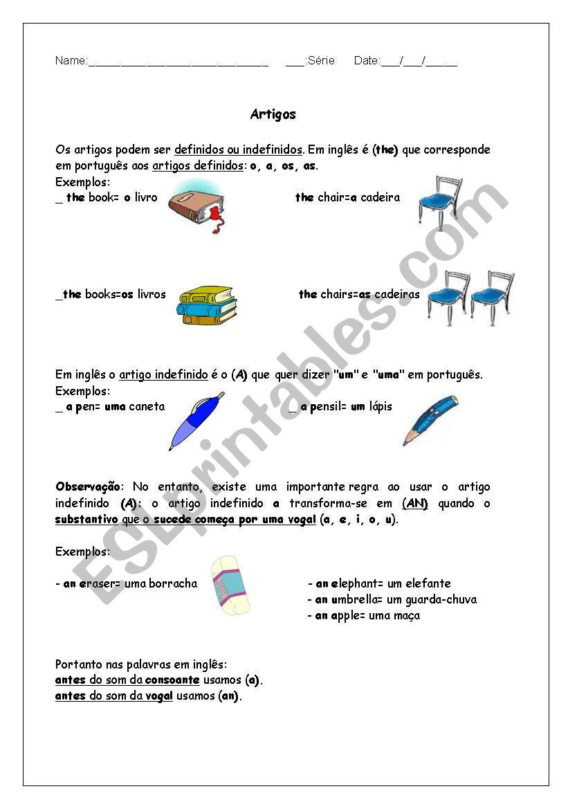 Article  worksheet