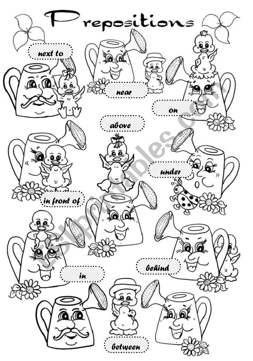 Prepositions Of Place Pictionary Esl Worksheet By Gabitza