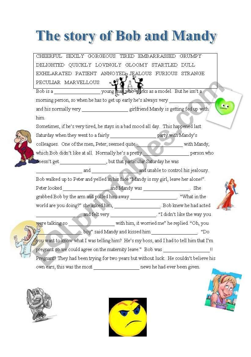 Bob and Mandy - descriptive adjectives/adverbs