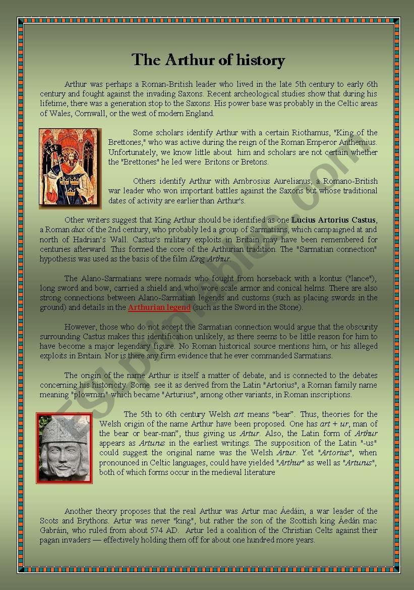 King Arthur in History - Summary