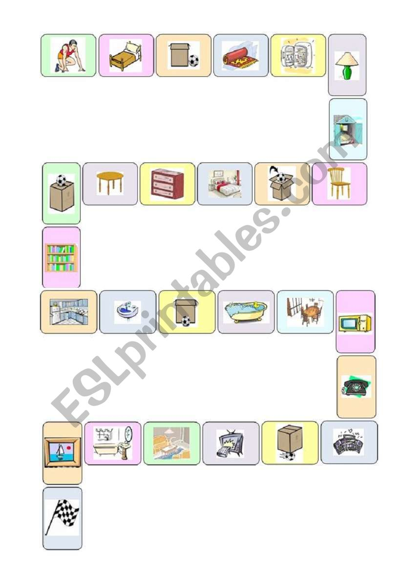 My Home Board Game Esl Worksheet By Candidarp