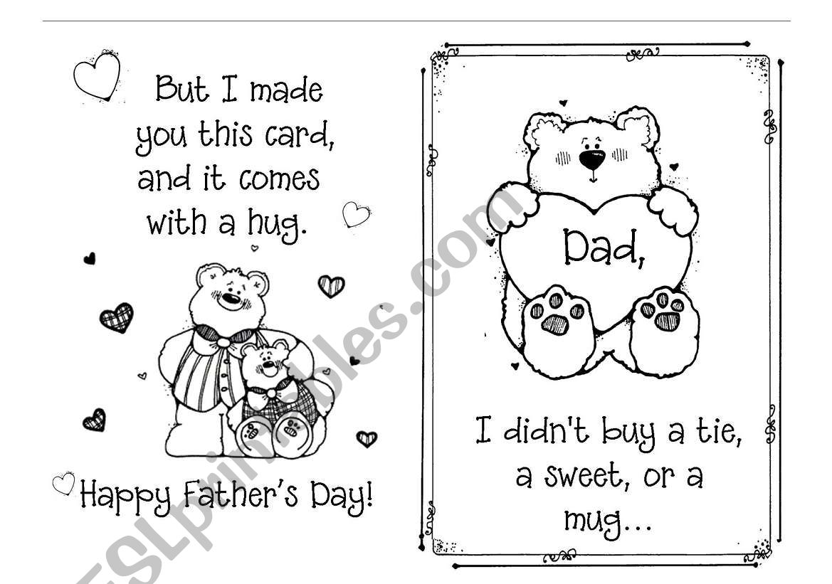 Father´s Day Card worksheet