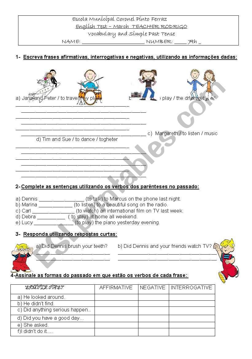 Simple Past Regular Verbs Esl Worksheet By Rfavolpi