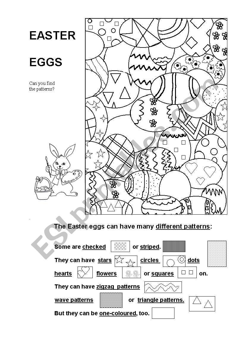 Easter Eggs - Can you find the patterns?