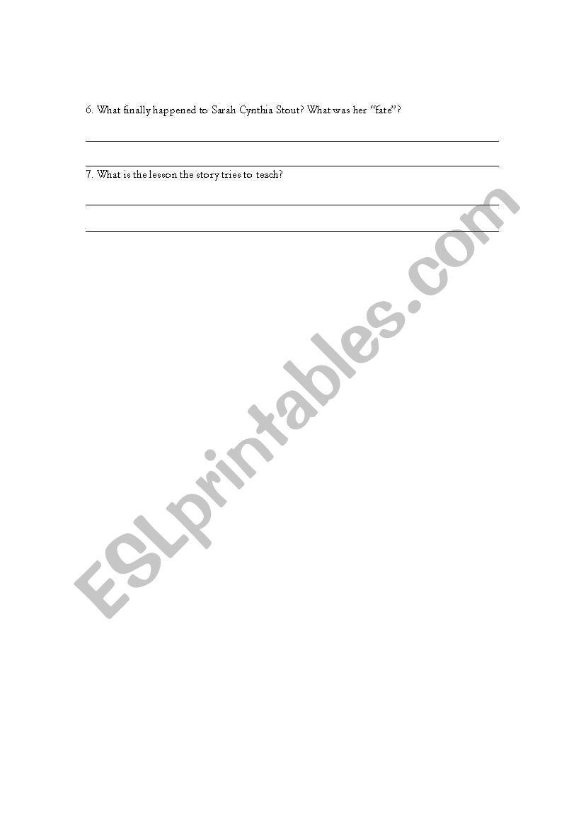 picture regarding Sarah Cynthia Sylvia Stout Printable referred to as English worksheets: Sarah Cynthia Sylvia Stout