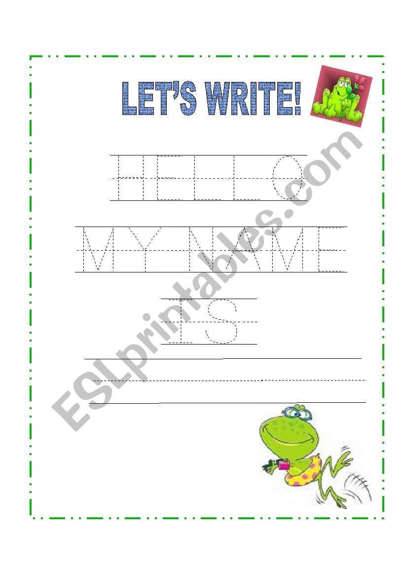 hello, my name is... - ESL worksheet by romynita