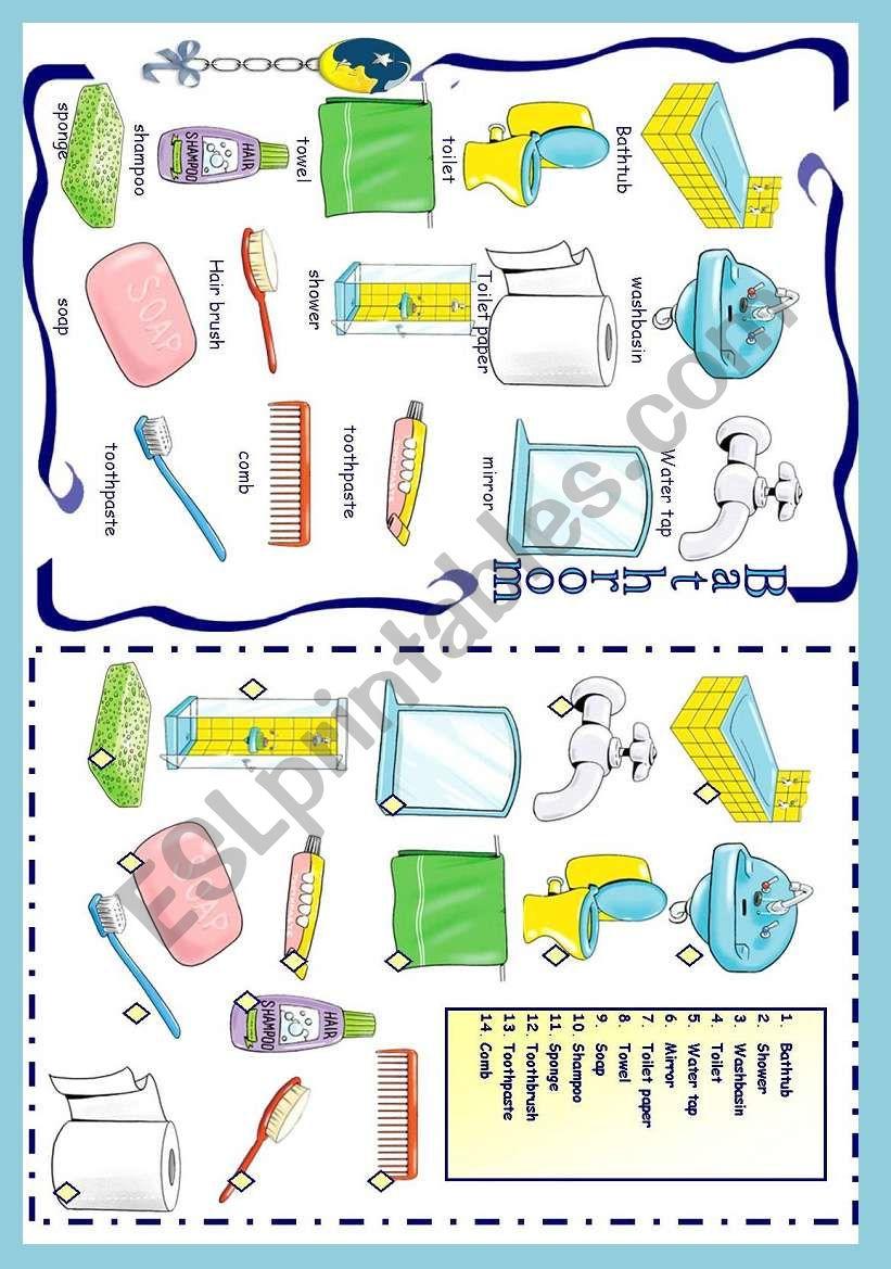 BATHROOM worksheet