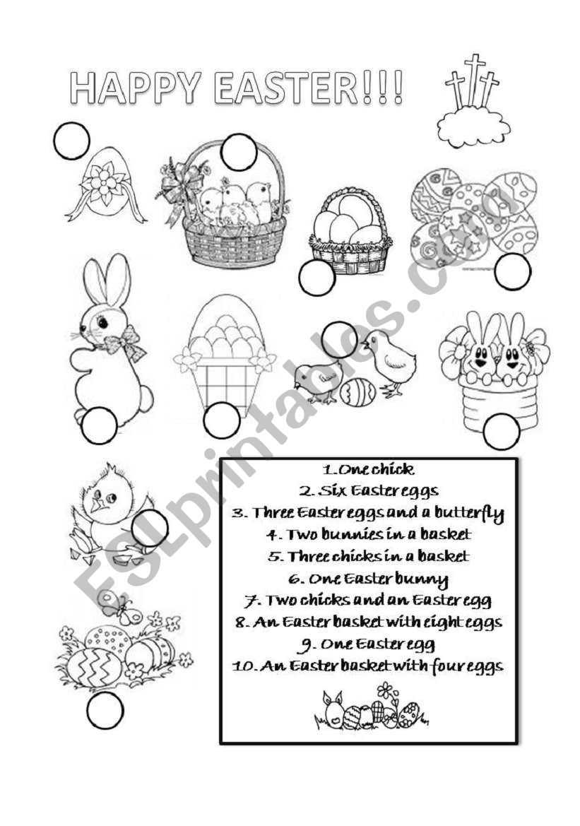 Happy Easter! worksheet