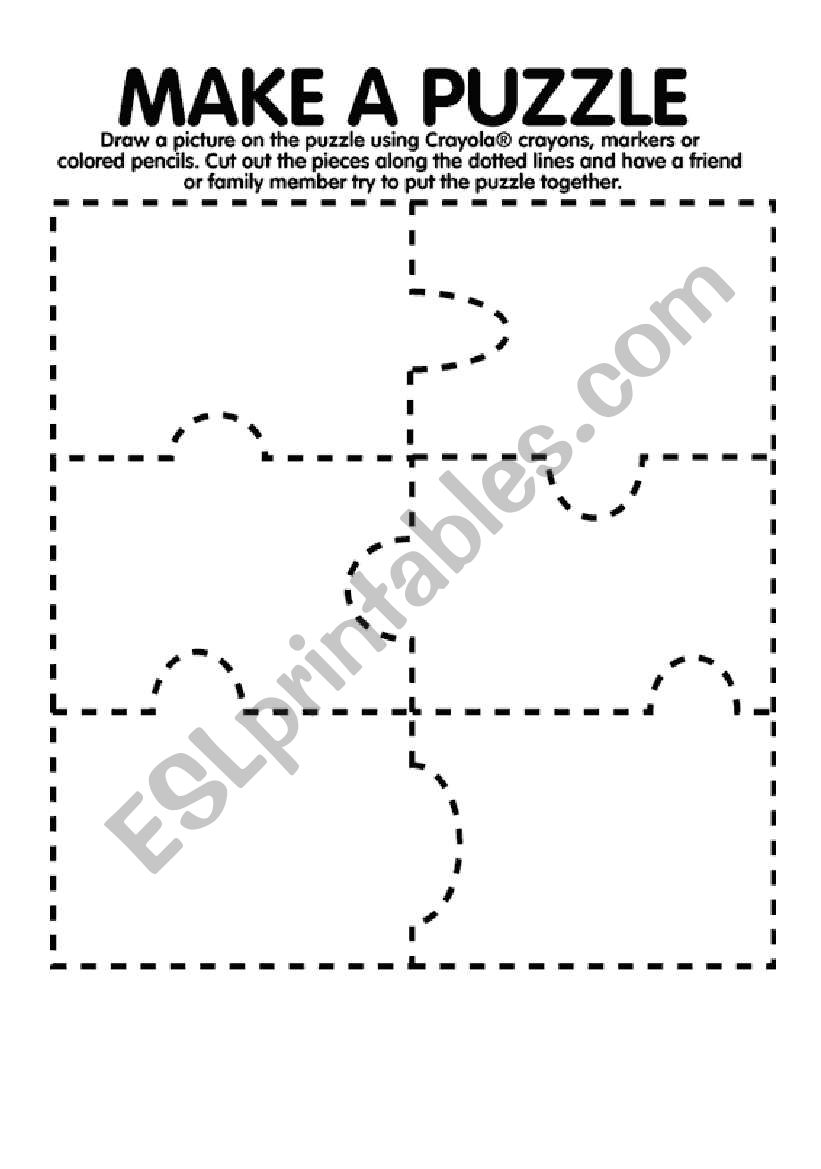 It's just a photo of Gargantuan Make Your Own Puzzle Printable