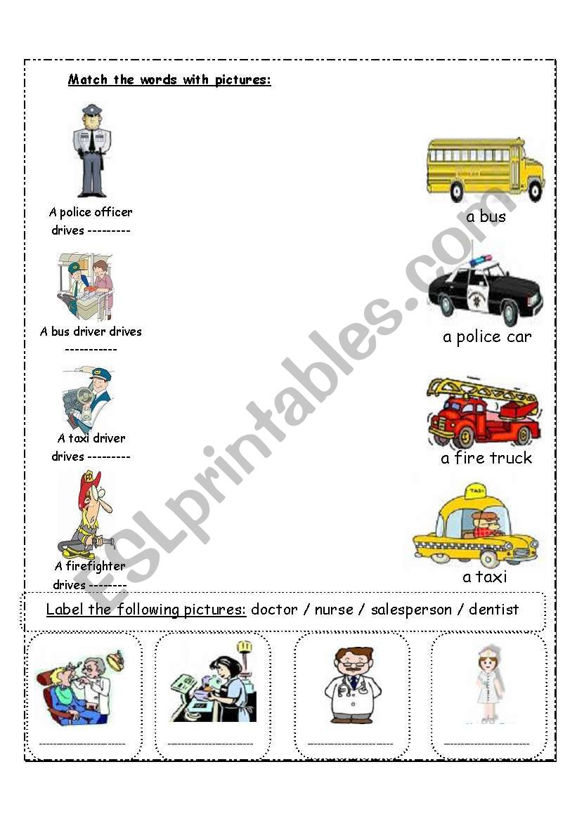 Community Helpers Esl Worksheet By Kanary578