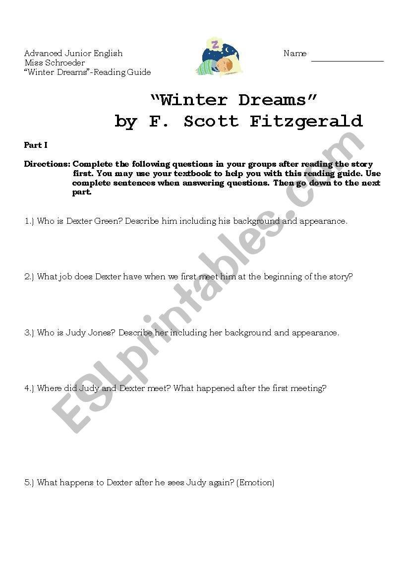 Winter Dreams Summary - eNotes.com