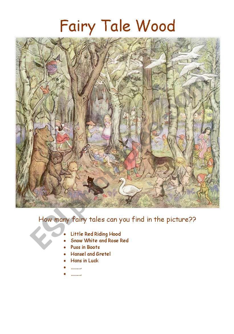 Fairy Tale Wood worksheet