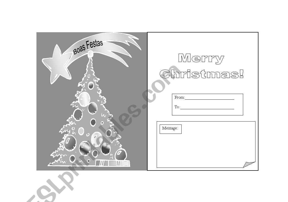 Cartão de Natal worksheet