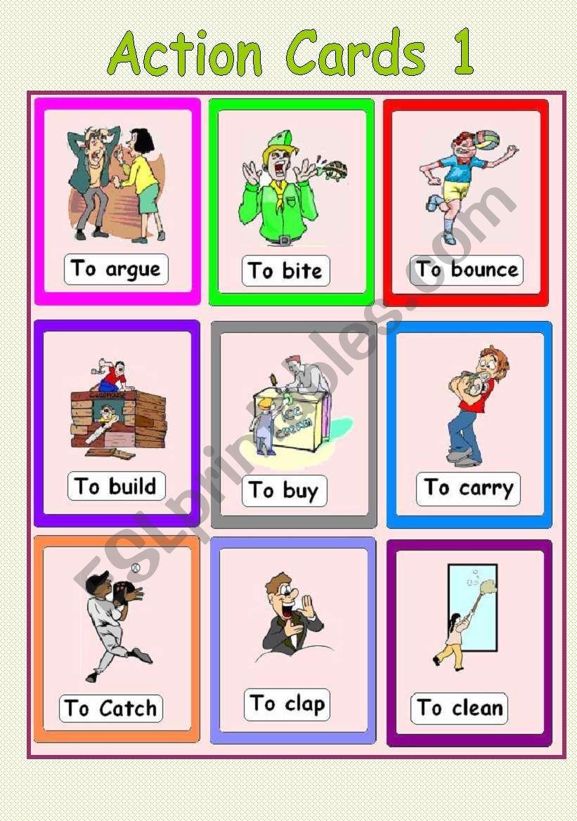 Action Cards 1 worksheet