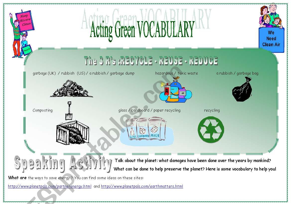 EARTH DAY PART 2 (4 skills) worksheet