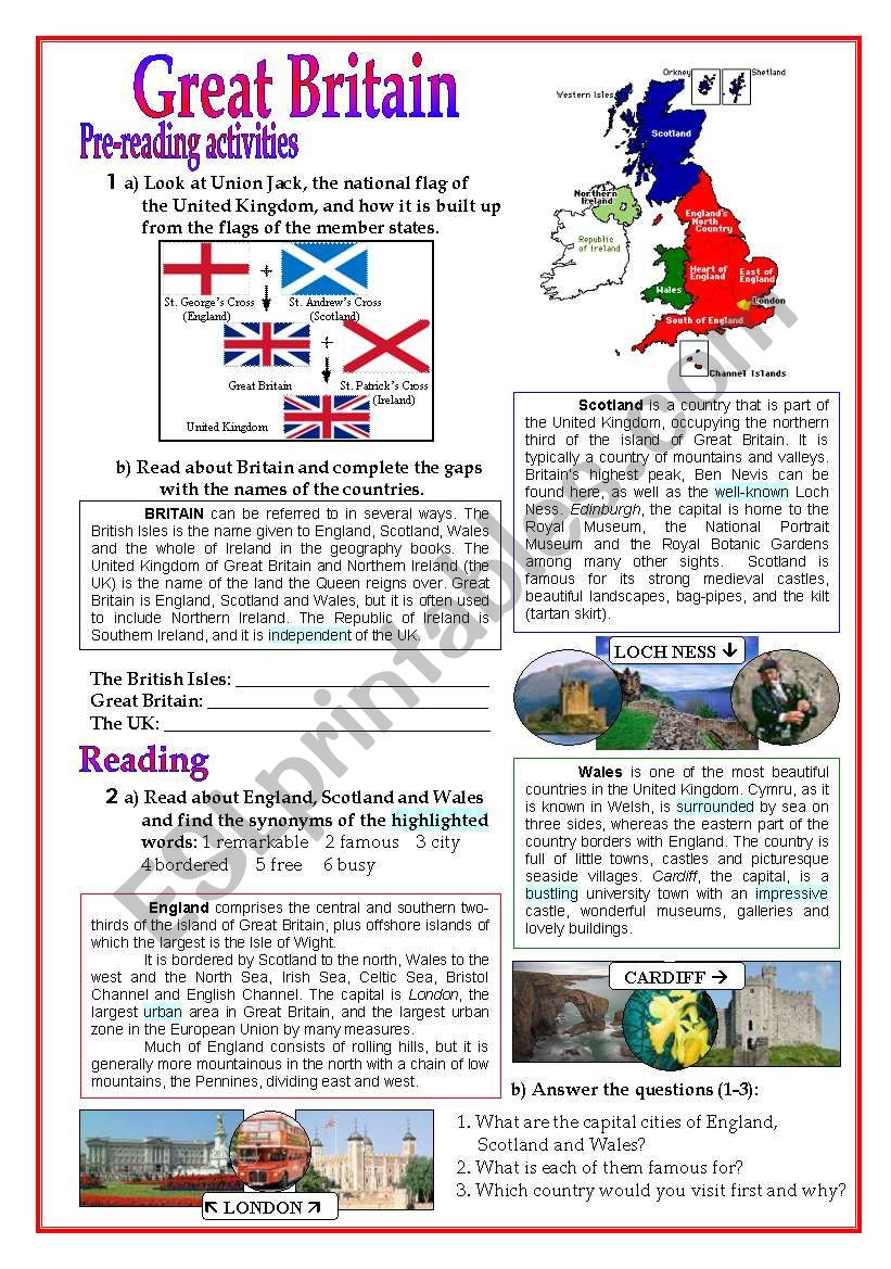 Great Britain worksheet
