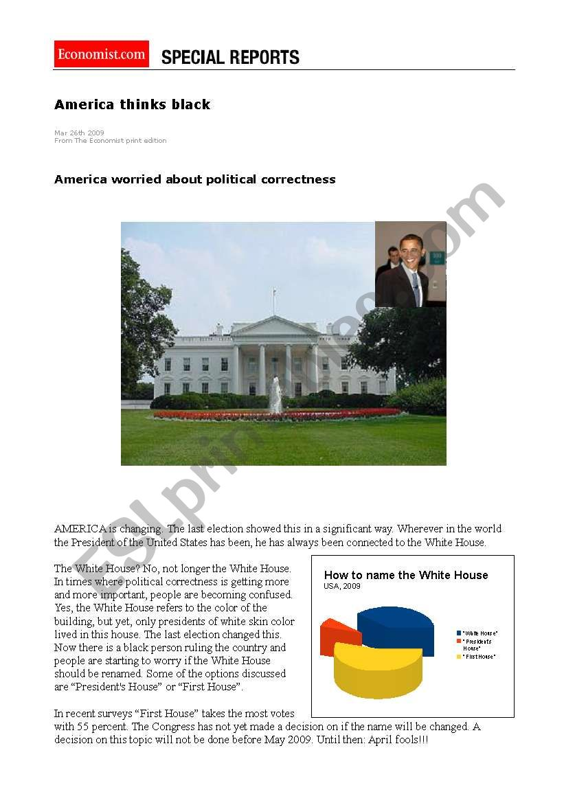 April fool - White House painted black
