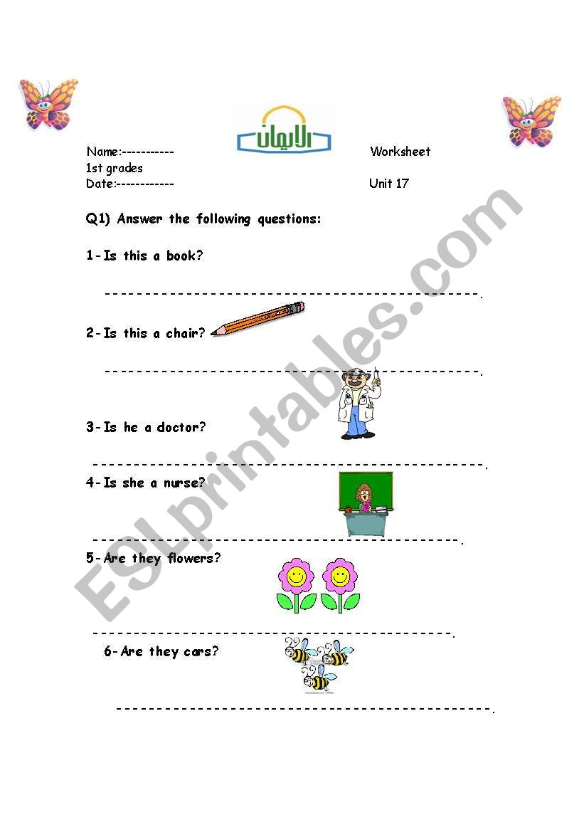 yes-no questions - ESL worksheet by hiba373