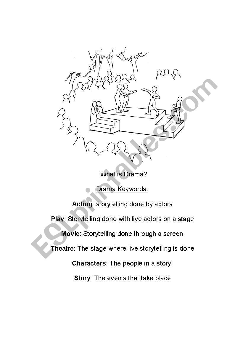 English Worksheets Introduction To Drama