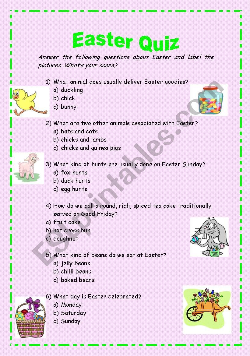 Easter Quiz worksheet