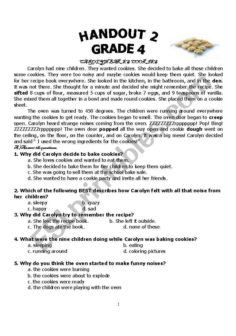 delicious  food worksheet