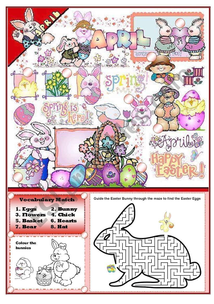 EASTER FUN ACTIVITY SET (elementary)