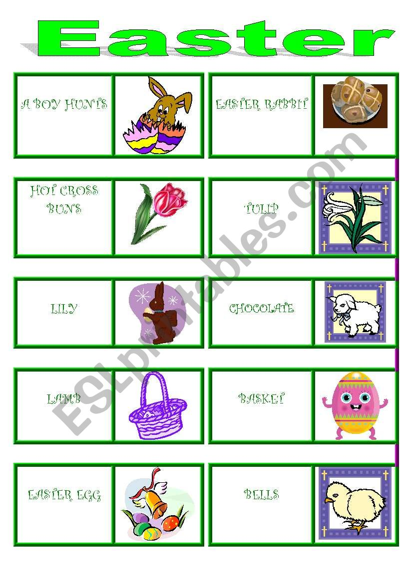EASTER DOMINO !!!!!!! 2 pages worksheet