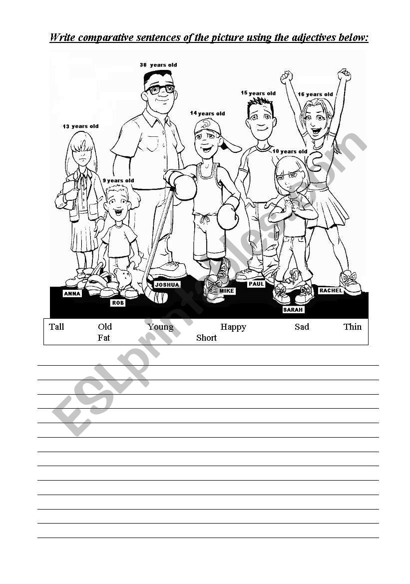 Comparative worksheet