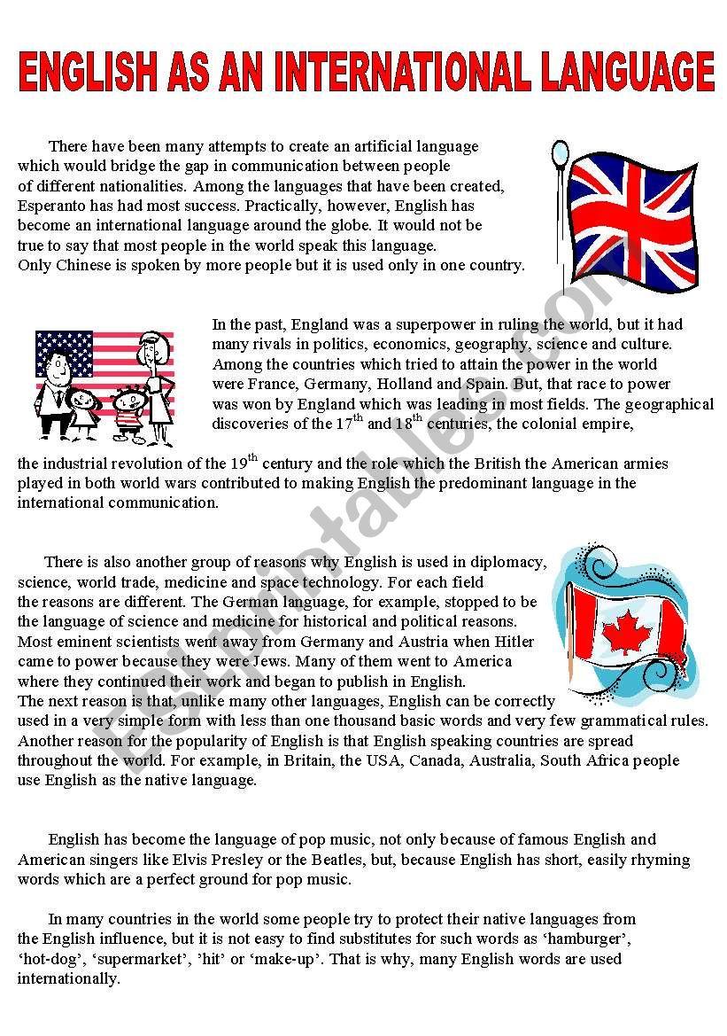 English as an international language - reading