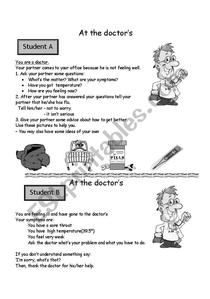 At the doctor´s Speaking practice