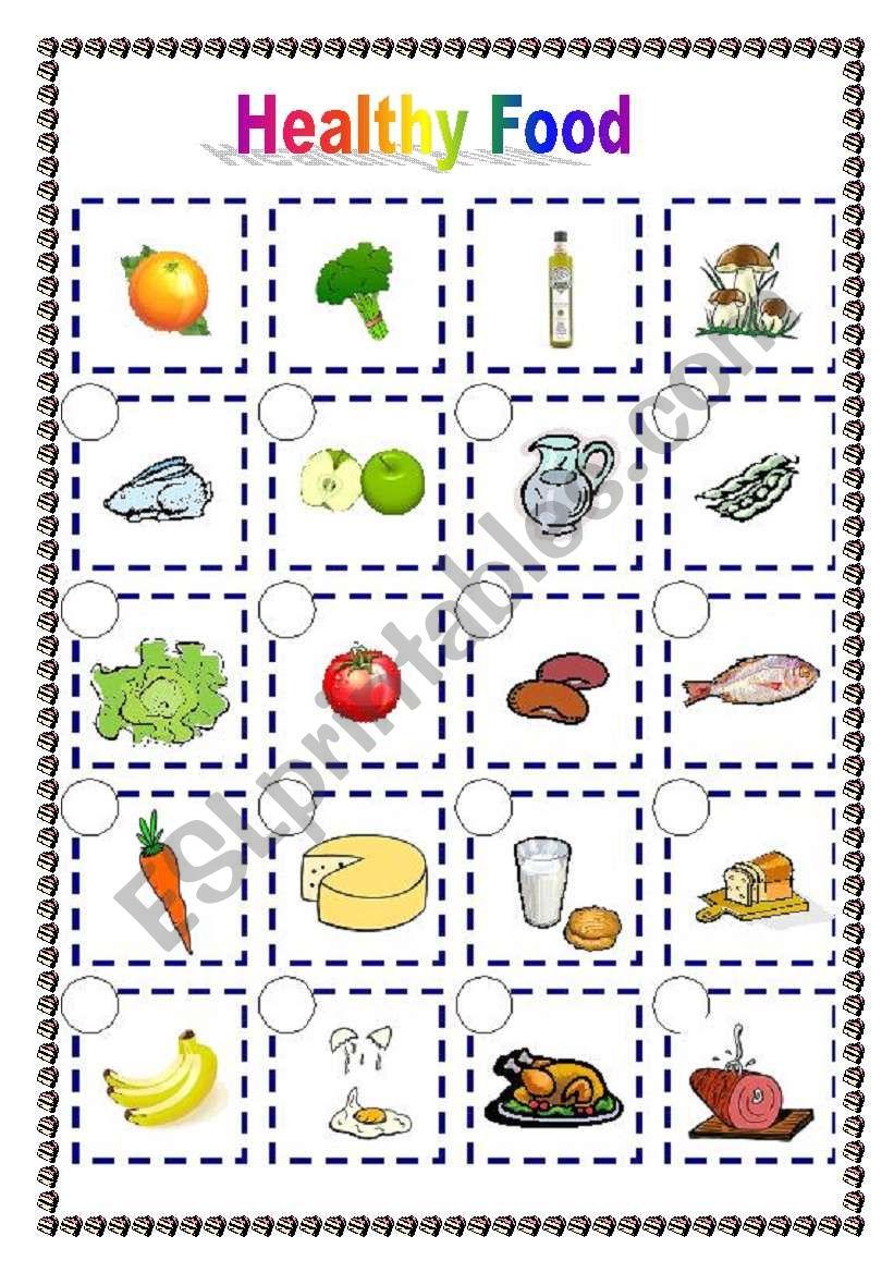 Healthy food (06 04 09) - ESL worksheet by manuelanunes3