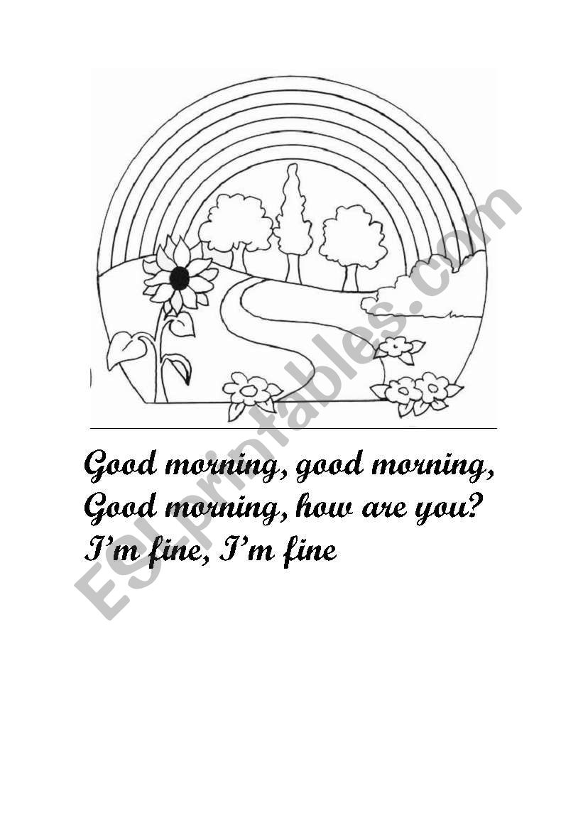 Good morning song worksheet