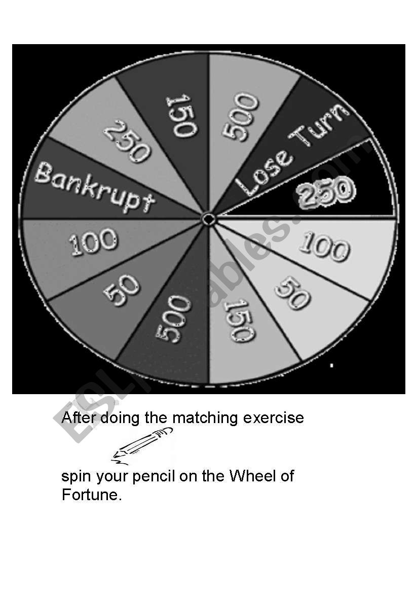 WHEEL OF FORTUNE (Black and white version)
