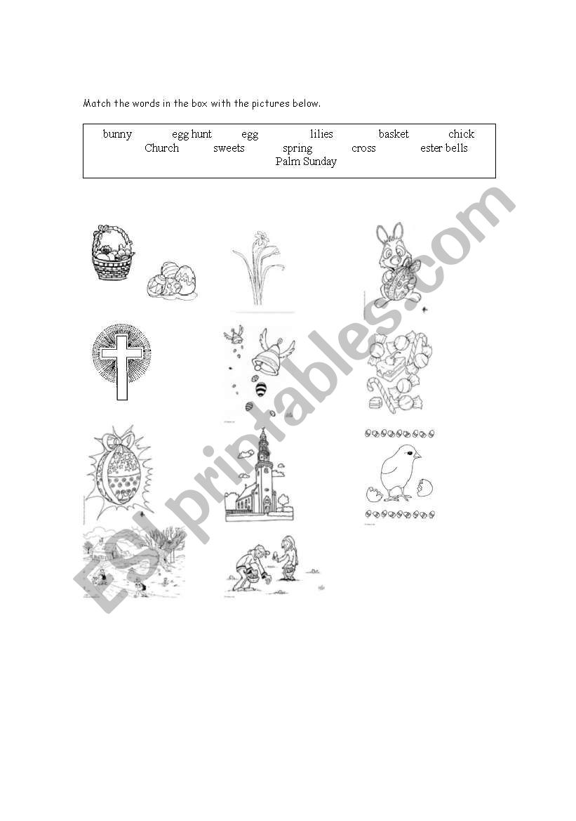 Easter Vocabulary worksheet