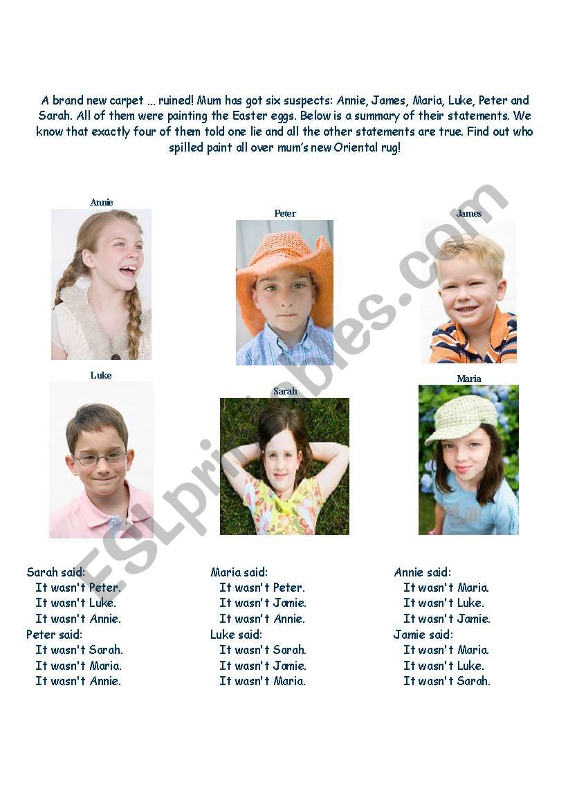 Easter Brain Challenge worksheet