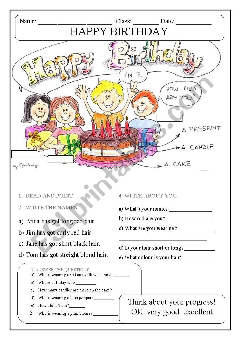 BIRTHDAY PARTY (description, clothes, colours..)