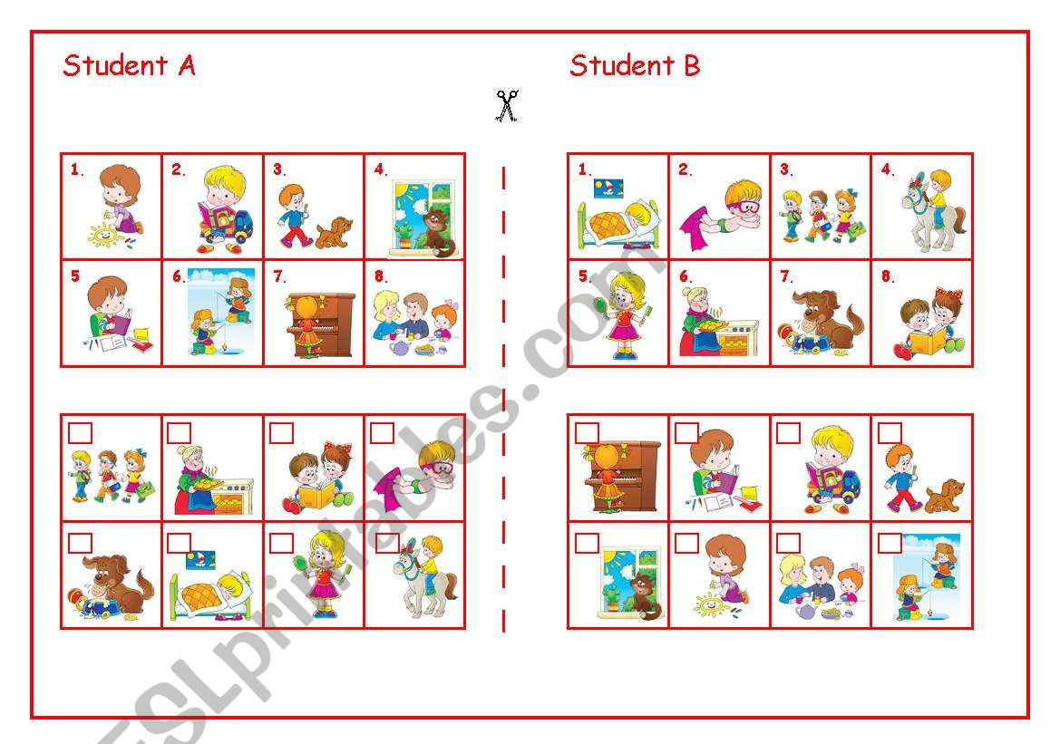 Continuous Pair Work worksheet