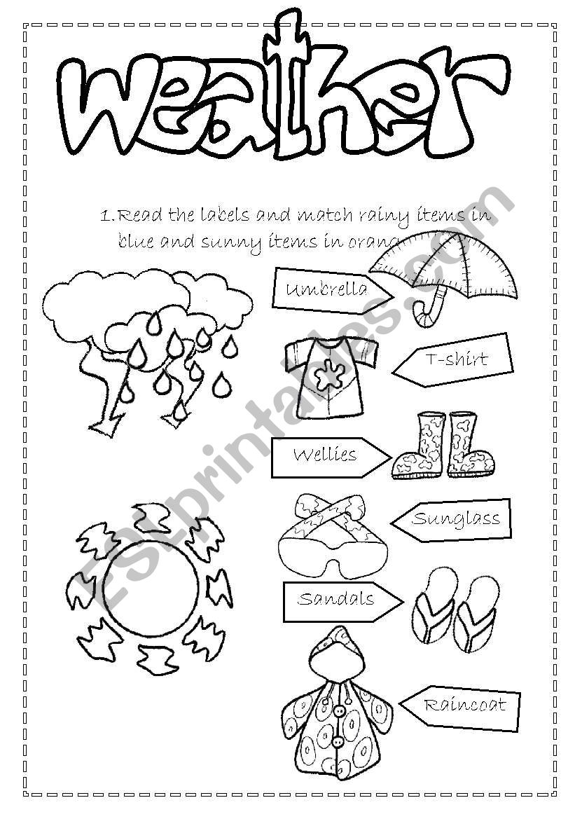 Weather and Clothes 1/3 worksheet