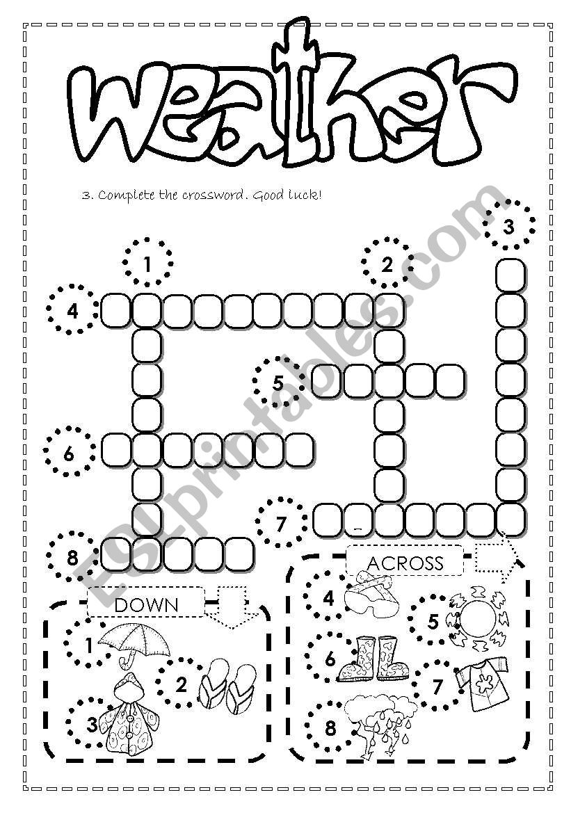 Weather and clothes 3/3 worksheet
