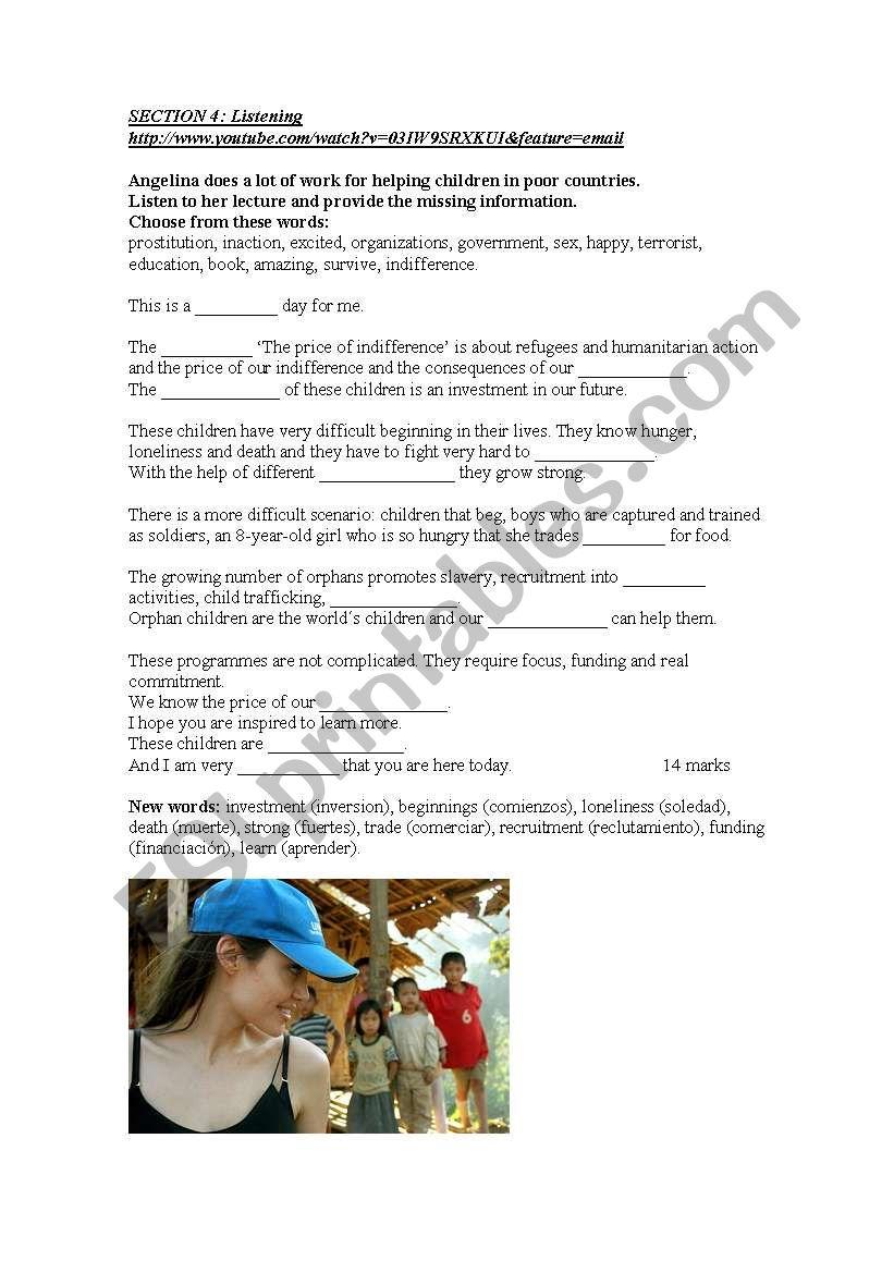 Adults 1 test Part 4 worksheet