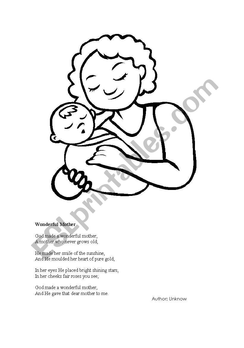 Mother´s day worksheet