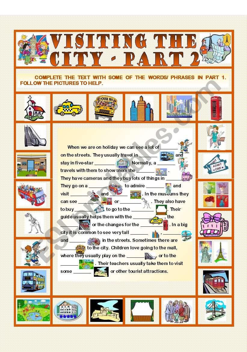 Visiting the City - Part 2 worksheet