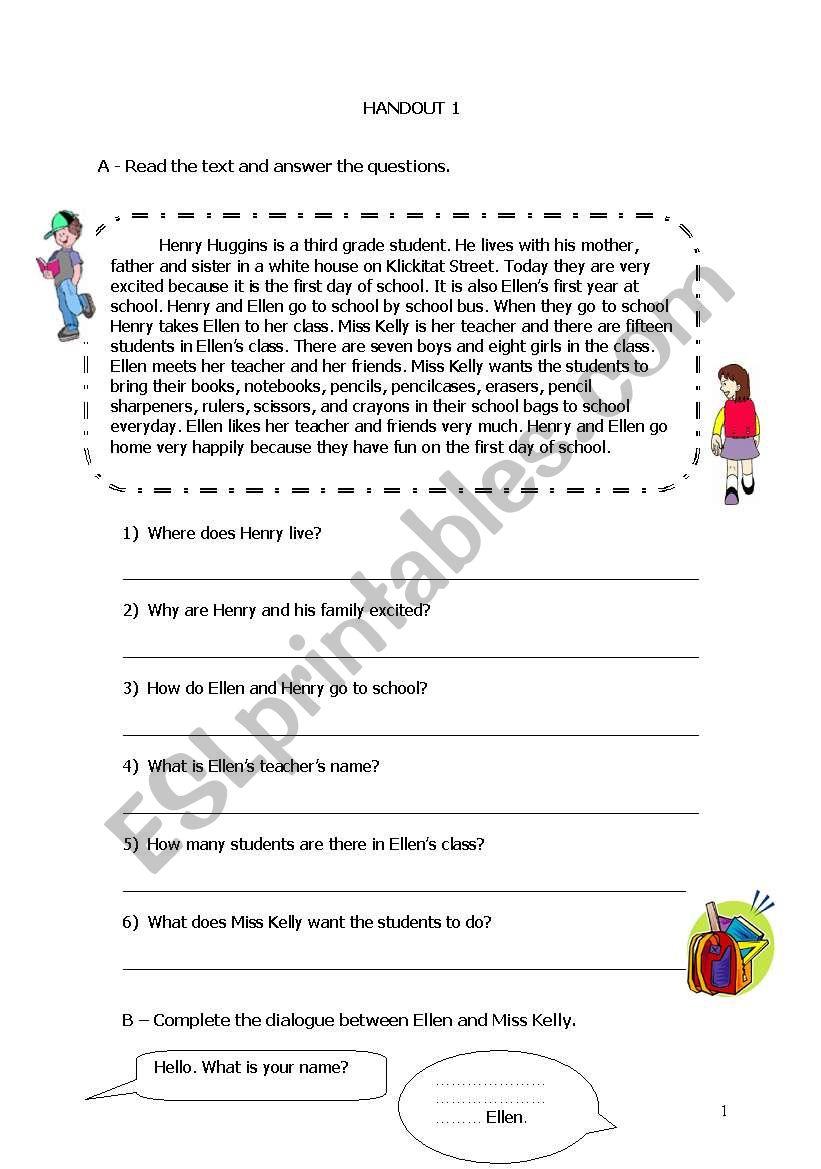 HENRY worksheet