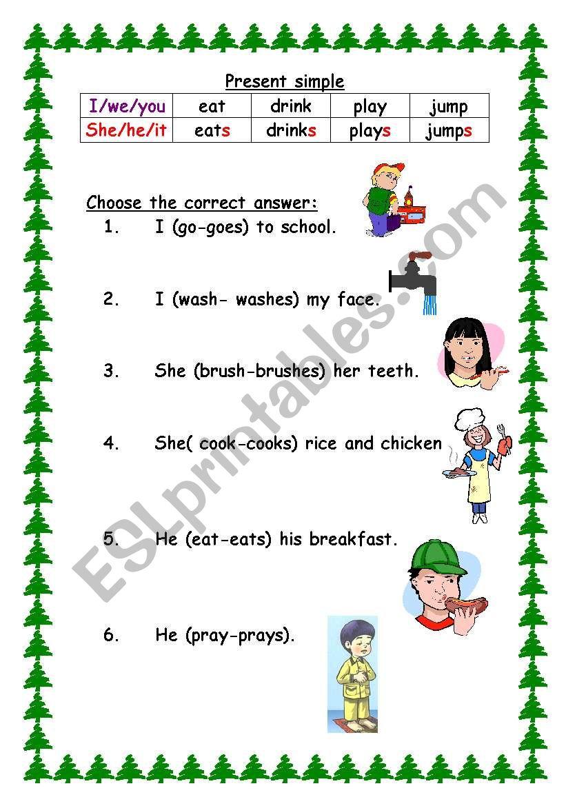 easy grammer worksheet