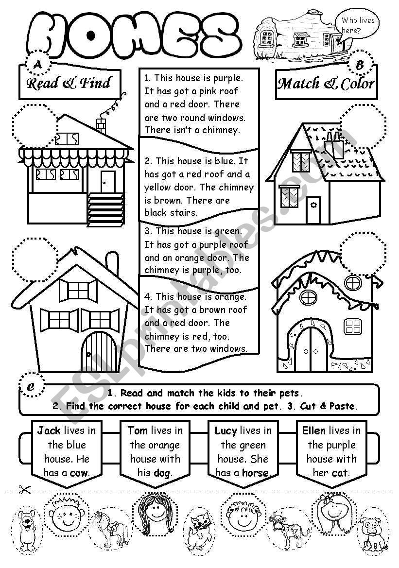 Homes worksheet