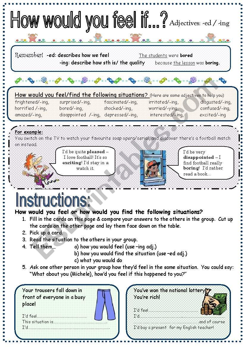 ing/ed Adjectives & 2nd Conditional