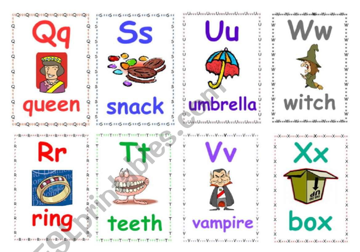 Alphabet flashcards 3 worksheet