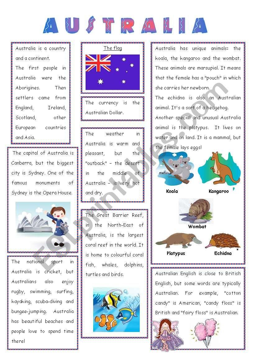 ENGLISH-SPEAKING COUNTRY (3) - AUSTRALIA